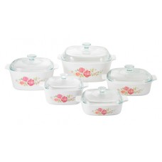 Corningware 10 pcs Chef Classic Covered Casserole Set  Rosabelle