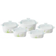 Corningware 10 pcs Chef Classic Covered Casserole Set  Provence Garden