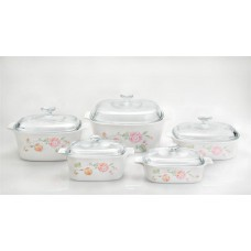 Corningware 10 pcs Chef Classic Covered Casserole Set  Country Rose