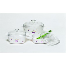 Corningware 6 pcs Covered Casserole Set Plum