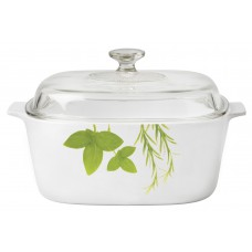 Corningware 5L Covered Casserole European Herbs