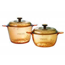 Visions 4 pcs Decorated Covered Versa Pot Set Provence Garden