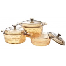 Visions 6 pcs Decorated Covered Versa Pot Set Four Leaves